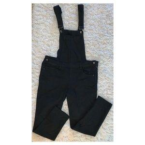 Dollhouse Skinny Denim Overalls - Black